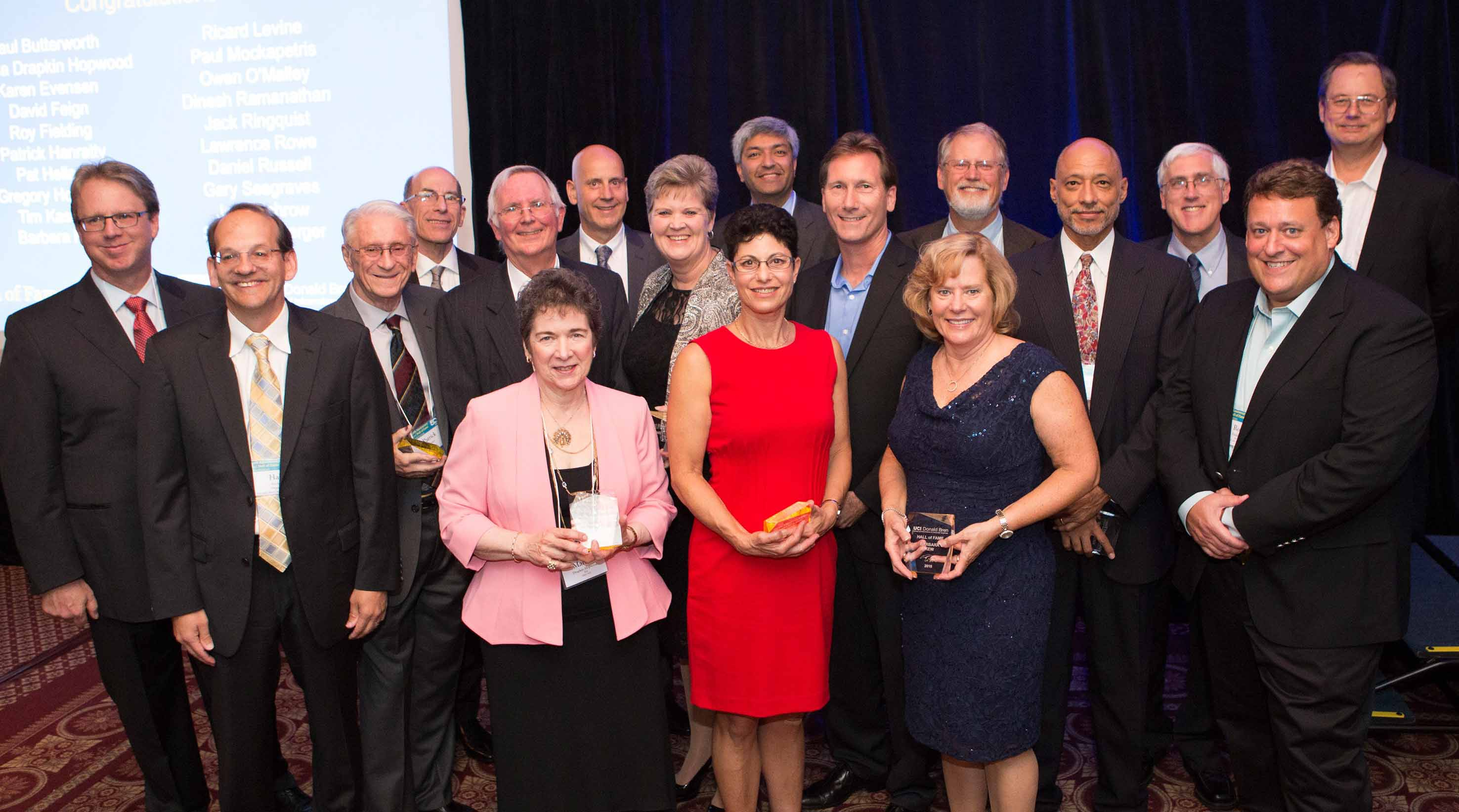 ICS 2015 Hall of Fame inductees. Owen O'Malley far left; Roy T. Fielding far right, front. Photo by Eva Lempert.