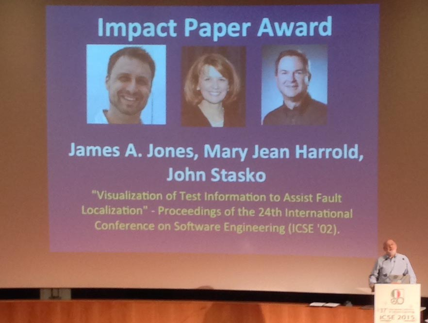 SIGSOFT Impact Award announced at ICSE 2015.