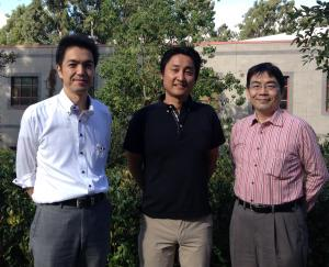 Mr. Satoru Aihara,  Software Engineering Project, NTT SIC; Dr. Shinobu Saito, Software Engineering Project, NTT SIC and ISR visiting researcher; and Mr. Hikaru Suzuki, Vice President, NTT SIC.