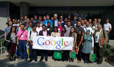 Participants of the Int'l Conference on Global Software Engineering visit Google, Irvine.
