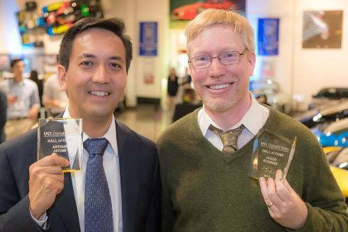 Dr. Arthur Hitomi and Dr. Jason Robbins. Photo by Paul Kennedy.
